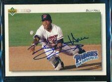 1992 Upper Deck Minor League #285 Billy Hall Mavericks signed autograph card