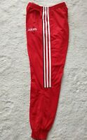 Adidas 90's Vintage Mens Tracksuit Pants Trousers Training Red White Stripe Hype