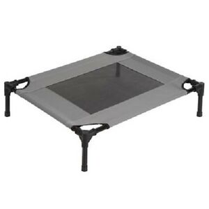 Dog Bed Large Folding Portable Metal Frame Indoor/Outdoor Weather Resistant