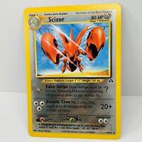 2001 Pokemon Card Neo Discovery Scizor 29/75 Non-Holo Rare WOTC