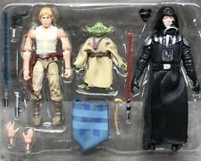 """STAR WARS TVC CASE OF EVIL 3 PACK EXCLUSIVE LUKE YODA VADER 3.75"""" SCALE LOOSE"""