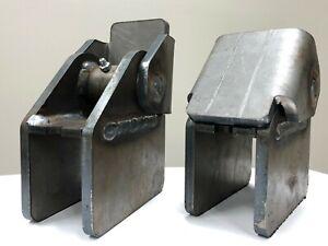 """USA Made Dump Truck Trailer Body Hinge Bracket 3/8"""" Steel Welded Wrap 2"""" Frame"""