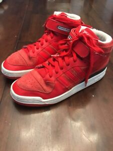 Adidas Chicago Bulls Basketball Shoes~sz 10.5 Men's~Red Suede & Leather