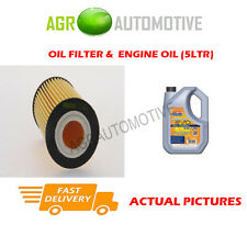 PETROL OIL FILTER + LL 5W30 ENGINE OIL FOR OPEL ASTRA 1.6 116 BHP 2006-12