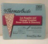 VG 1988 THOMAS Bros MAP GUIDE - Los Angeles & Orange Counties FREE SHIPPING