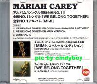 Mariah Carey We belong together Remix 3 trk Japan Promo CD Very rare