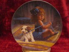 BALLERINA'S DILEMMA collector plate GREGORY PERILLO dog  girl DANCER