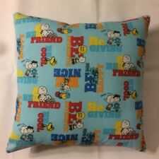 New Be Peanuts Charlie Brown Linus Lucy Snoopy Complete 15 X 15 Throw Pillows