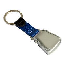 Airplane Seatbelt Keychain | Blue | Matt Finish | High Quality | aviamart®