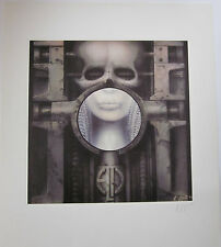 H.R.Giger Brain Salad Surgery Plate Signed Lithograph limited to 9800.