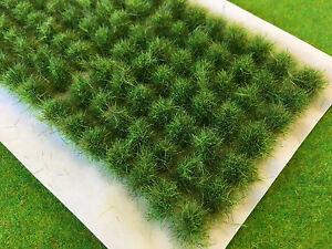 Swamp Green Tall Wild Tufts - Model Railway Scenery Wargames Bushes Bushy Grass