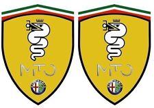 2 stickers adhésifs ALFA ROMEO MITO BISCIONE (idéal pour aile avant)