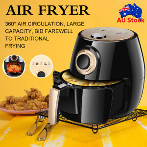 5L Air Fryer Oven Electric Fryers Healthy Cooker Oil Free Kitchen Airfryer Black