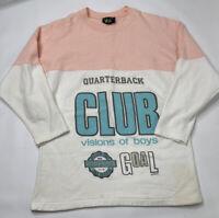 Vintage 90s Streetwear Womens Medium Color Block Distressed Sweatshirt USA