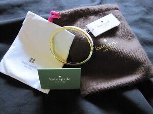 Kate Spade White & Gold Oval Bangle