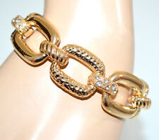 PULSERA mujer oro dorado strass anillos cadena de oro joyería de fantasía G30