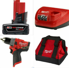 Milwaukee 2504-20 M12 FUEL BRUSHLESS HAMMER DRILL/DRIVER W/4.0Ah Battery,Charger