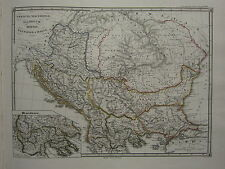 1850 SPRUNER ANTIQUE HISTORICAL MAP ~ THRACE MACEDONIA ILLYRIA DACIA MOESIA