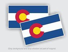"2 - Colorado State Flag Decal Stickers - 2.38"" x 4"" USA"