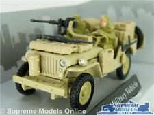 WILLYS JEEP CAR MODEL 1:43 ARMY MILITARY & FIGURES CARARAMA SAND OPEN TOP 1/4 T3