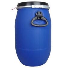 30 L Litre Open Top Plastic Storage Barrel Drum Keg With Lid Food Grade