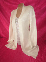 Victorias Secret Womens Small Sweater Cardigan Wrap Ivory Sequin Bling Tunic Nwt