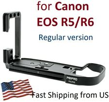 PEIPRO L-Bracket for Canon EOS R5 R6 camera tripod Custom Plate w/ quick release
