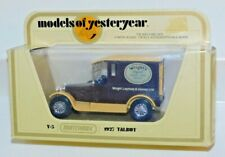 MATCHBOX MODELS OF YESTERYEAR Y-5 1927 TALBOT ORIGINAL SOAP DELIVERY TRUCK