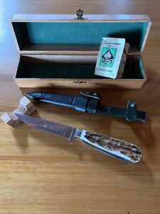 Puma Pre 1965 Gamekeeper Vintage Knife Model 3591 With Stag Handles