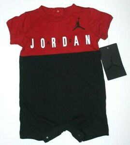 Baby Boys 3-6M Nike Air Jordan Romper One piece Outfit New w tags