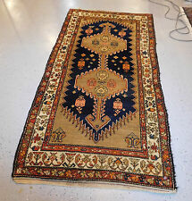Antique carpet Persian Kurdish rug 3'10'' x 8' ca. 1930's  excellent condition