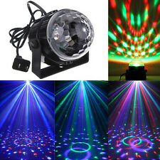 Music Active RGB Rotating LED Stage Crystal ball Xmas Club DJ Party Disco Light