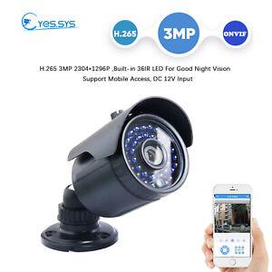 3.0MP CCTV HD 36IR Bullet IP Camera H.265  RTSP NVR Blue IRIS XMEYE NVR