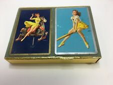 Jules Erbit Pinup Playing Card Double Deck 104 Cards 1940s
