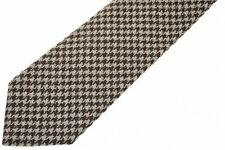 Isaia Wool Tie Brown Check 06TI0284 $230