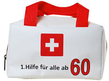 Witzige Geschenkverpackung 60. Geburtstag Scherzartikel Tasche 1. Hilfe