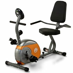 Orange, Silver Stationary Exercise Bike; Magnetic Resistance; 55.5Lx25Wx37.5H.
