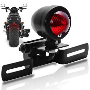 Retro Universal Motorcycle Tail Light LED Rear Brake Lamp Taillight Indicator