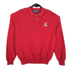 New listing Polo Golf Ralph Lauren Mens Large Long Sleeve Polo Shirt Red Crest
