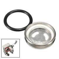 Bike Motorcycle Brake Master Cylinder Reservoir One Sight Glass Lens Gasket 18mm