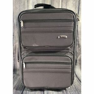 """VTG Delsey Rolling Carry On Luggage Garment Bag Collection Deluxe Suitcase 21"""""""