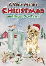 "Cairn Terrier Dog A6 (4"" x 6"") Christmas Card (Blank inside) by Starprint"