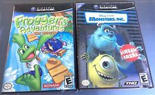 Lot Gamecube Games MONSTERS, INC. Scream Arena & FROGGER'S ADVENTURE The Rescue