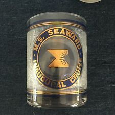 4 Vintage M.S. Seaward Inaugural Cruise Rock Glasses