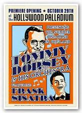 CONCERT POSTER Tommy Dorsey and Frank Sinatra Reproduction Vintage Poster