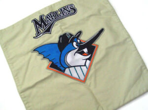 Pottery Barn Kids Marlins Decorative Baseball Sports Team Pillow Cover Sham New
