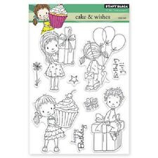 PENNY BLACK RUBBER STAMPS CLEAR CAKE AND WISHES STAMP SET 2014