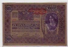 Austria 10000 10.000 corone  1918 1919  qFDS aUNC    pick 65  lotto 612