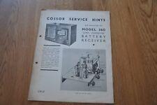 Nel modello 360 SUPER ferrodyne Batteria Ricevitore Manuale Originale. S.M.64