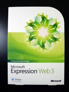Microsoft Expression 3 Web Design Website Builder (for Windows XP/Vista/7/8/10)